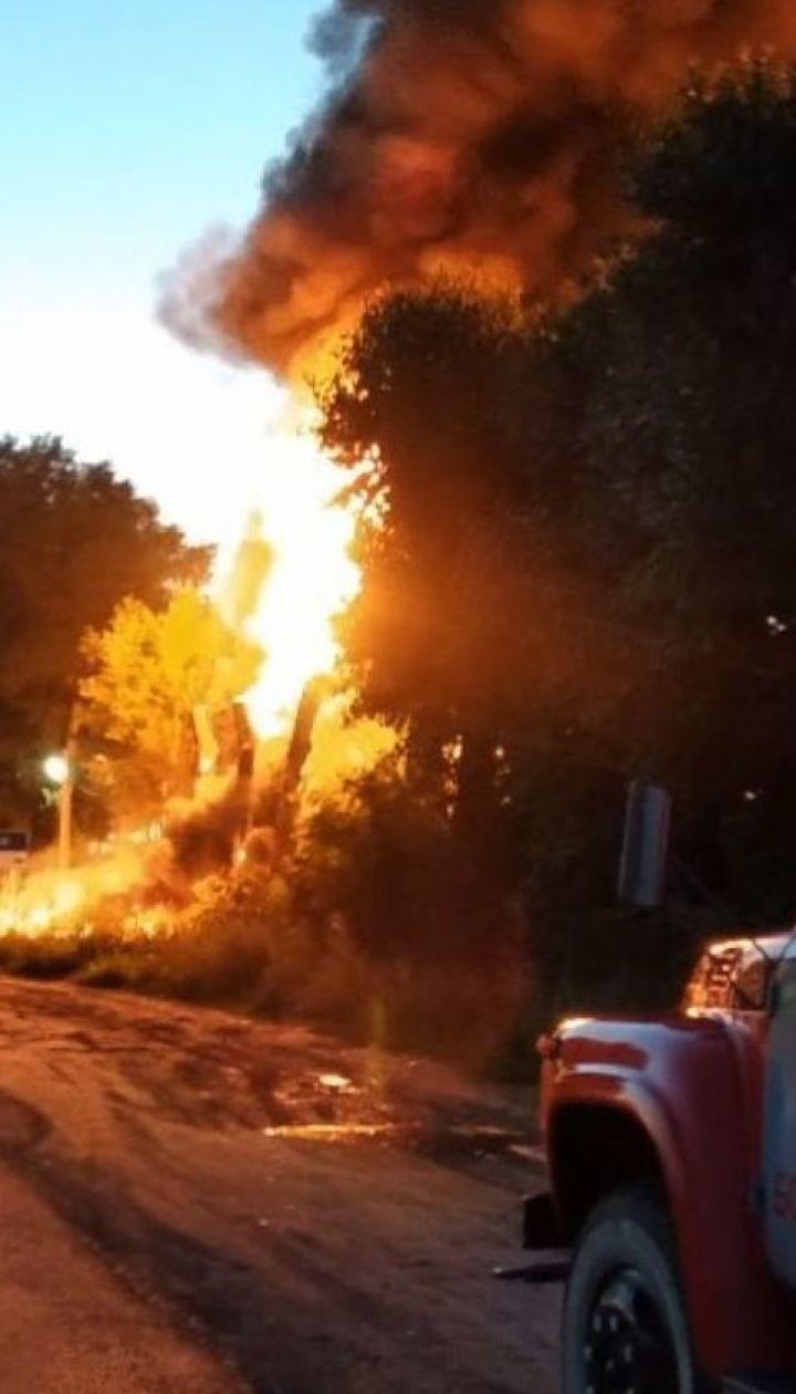 На Киевщине произошел пожар на автозаправочной станции