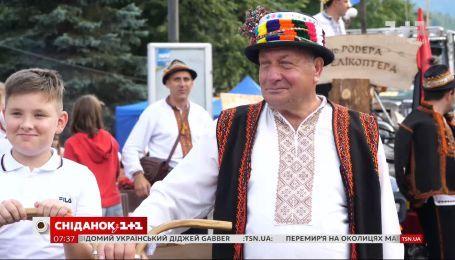 В Яремче ко Дню города провели первый гуцульский карнавал