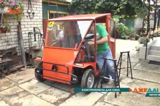 Изобретатель на Черниговщине создал электрокар за 25 тысяч гривен
