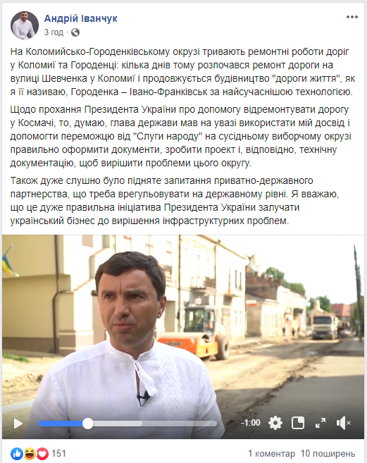 Пост Іванчука