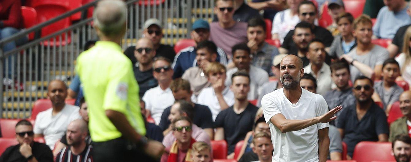 Гвардіола став першим тренером в англійському футболі, який отримав жовту картку