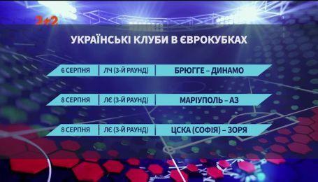 Еврокубковый календарь для украинских команд на ближайшую неделю