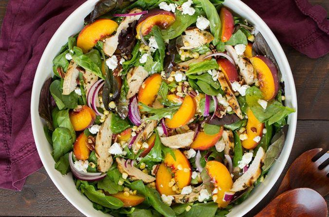 Салат з персиками, для блогів