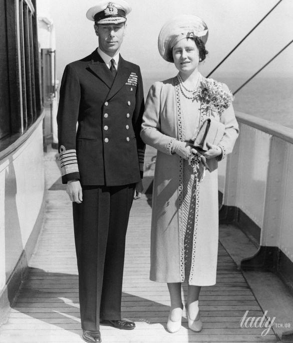 Король Георг V и королева Елизавета