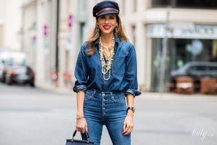 Як носити повністю джинсові вбрання