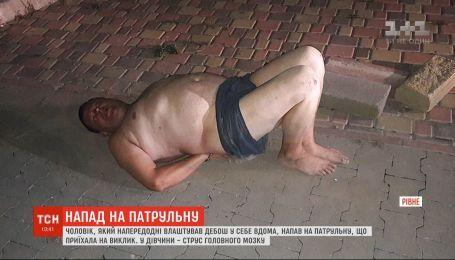 В Ровно 45-летний мужчина избил полицейскую до сотрясения мозга
