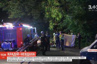 В Германии грабитель убегал от полиции и сорвался в реку