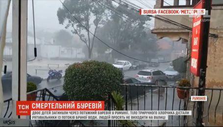 Двоє дітей загинули через потужний буревій у Румунії