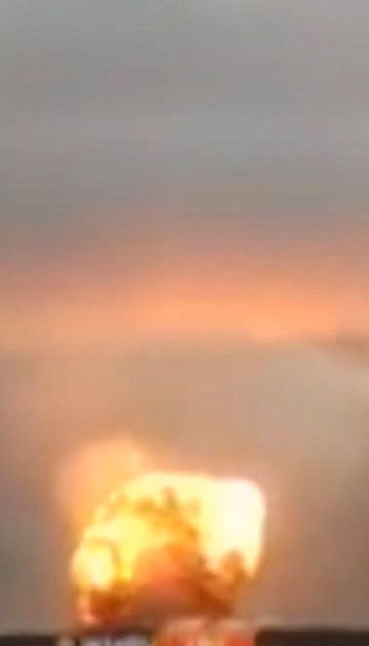Почти сутки тушили пожар на складе боеприпасов в Красноярском крае России