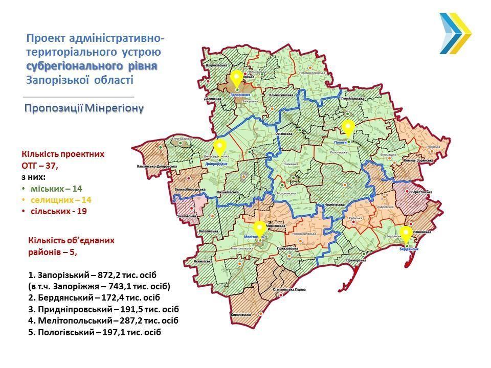 адмінустрій Запорізької області