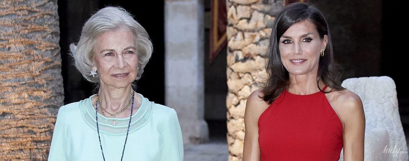 Какие красивые королевы: испанские монархи Летиция и София на торжественном приеме во дворце Альмудайна
