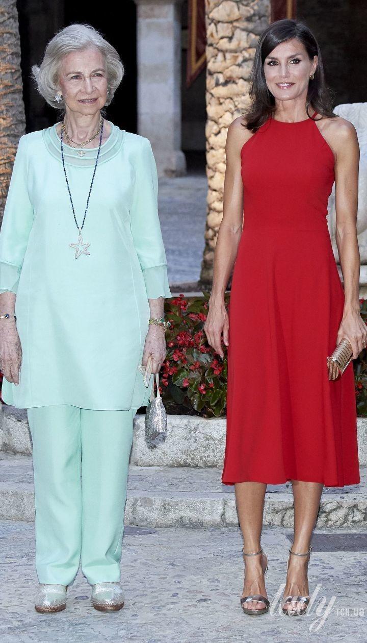Королева Летиція і королева Софія