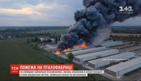 На Киевщине горела птицефабрика: возгорание тушили 30 пожарных