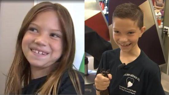 У США хлопчик навмисно відрощує довге волосся для хворих на рак дітей