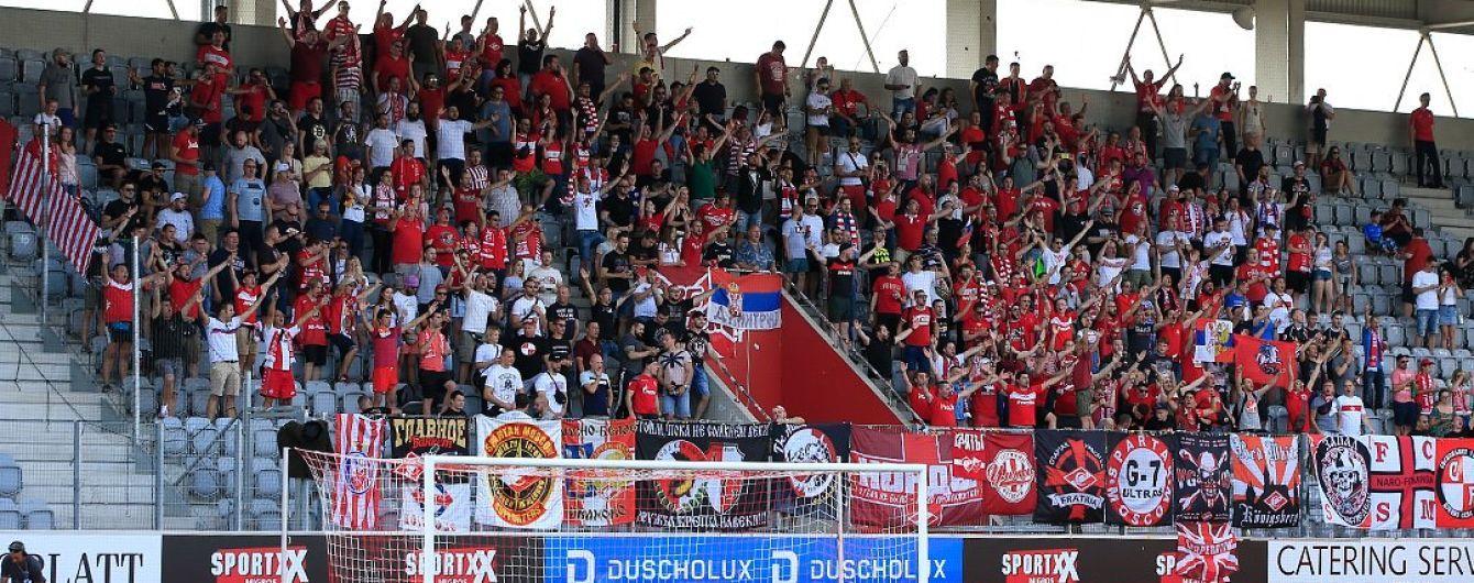 Російські вболівальники принесли картонного Путіна на матч Ліги Європи, їх вигнали зі стадіону