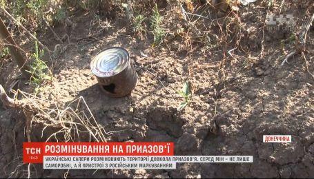 Сразу 18 мин на нескольких метрах тропы сняли украинские саперы на Приазовье