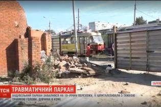 В Харькове девушка оказалась в коме после того, как на нее упал двухметровый забор