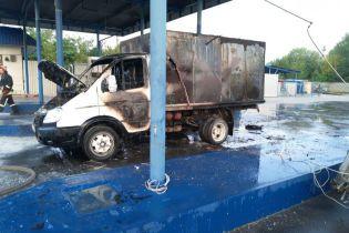 В Запорожье на заправке в автомобиле взорвался и загорелся газовый баллон