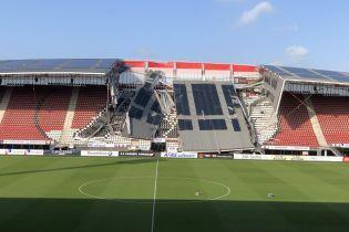 """В Нидерландах на стадионе соперника """"Мариуполя"""" обрушилась крыша"""