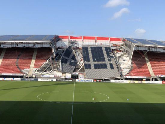 """У Нідерландах на стадіоні суперника """"Маріуполя"""" обвалився дах"""