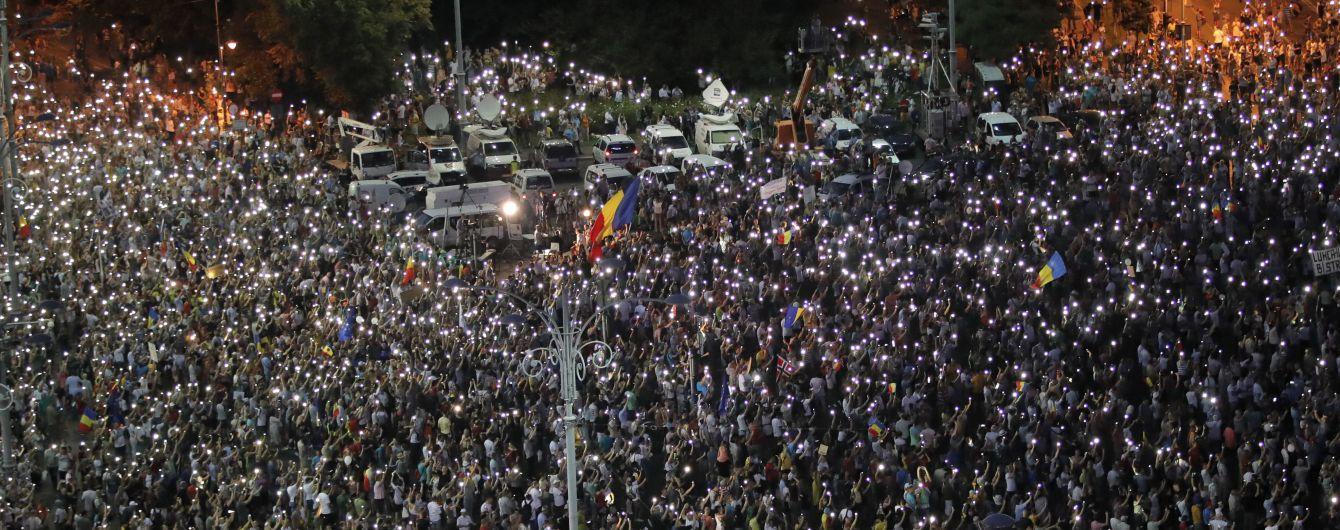 На антиправительственный митинг в Румынии вышли 25 тысяч человек