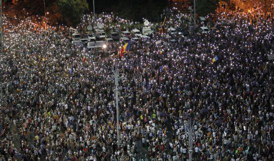 На антиурядовий мітинг у Румунії вийшли до 25 тисяч людей