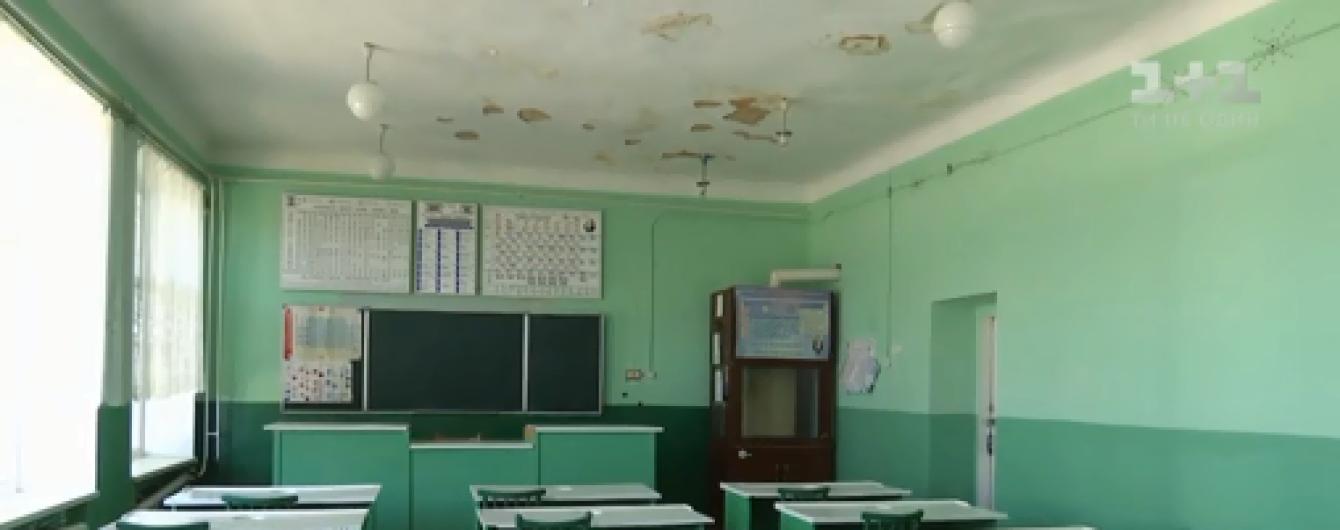 Після ремонту даху в школі може обвалитися стеля