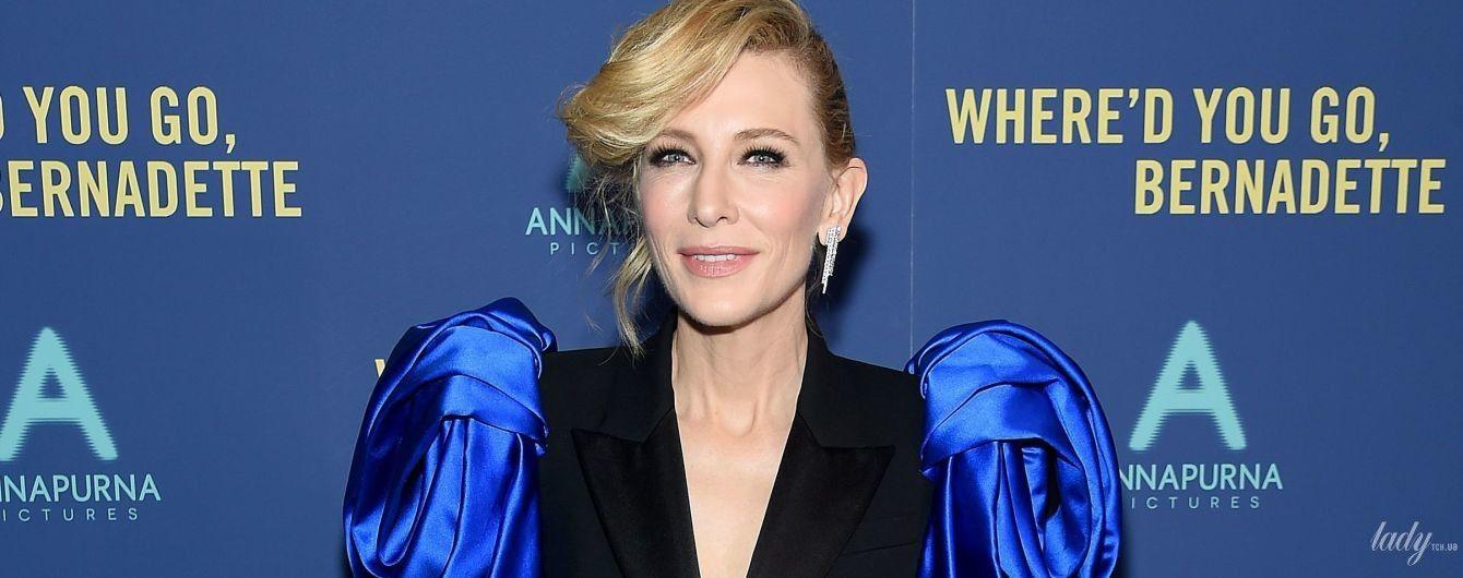 В стильном костюме с неоновыми рукавами: Кейт Бланшетт на премьере фильма в Нью-Йорке
