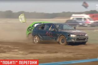 В Польше устроили заядлые гонки на разбитых машинах
