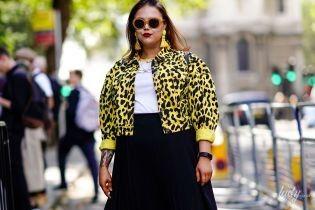 Мода для полных: как носить принты