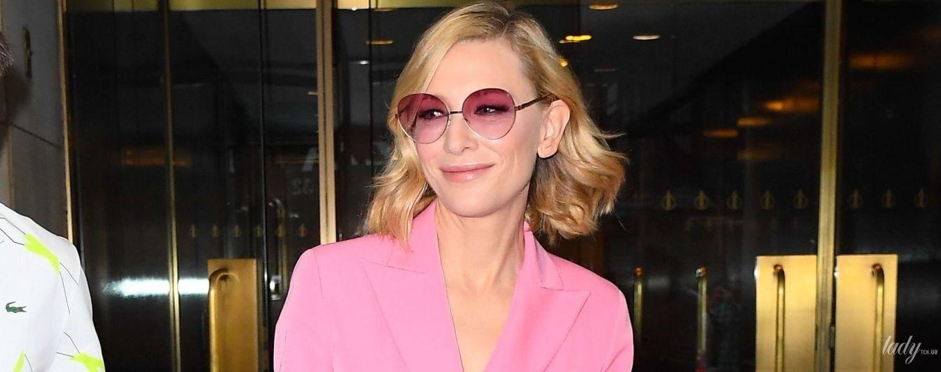 В рожевому костюмі і кедах: стильна Кейт Бланшетт в Нью-Йорку
