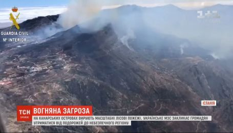 На Канарских островах бушуют масштабные лесные пожары