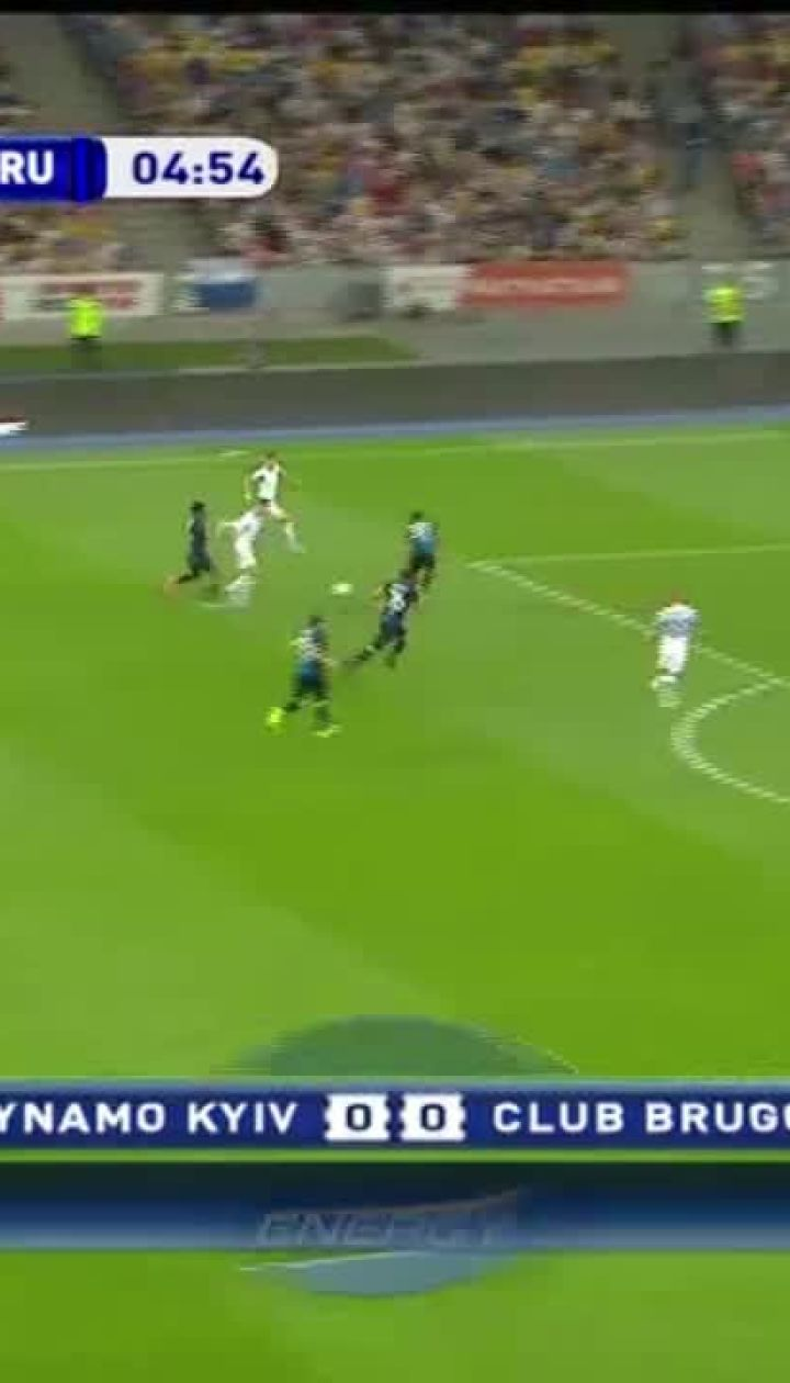 Динамо - Брюгге - 1:0. Видео гола Буяльского