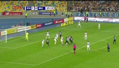 Динамо - Брюгге - 1:1. Видео гола Дели