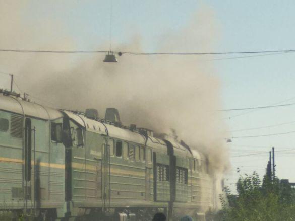 Пожежа локомотиву в Миколаєві_01