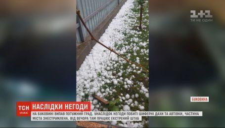 Непогода уничтожила десятки крыш и автомобилей на Буковине