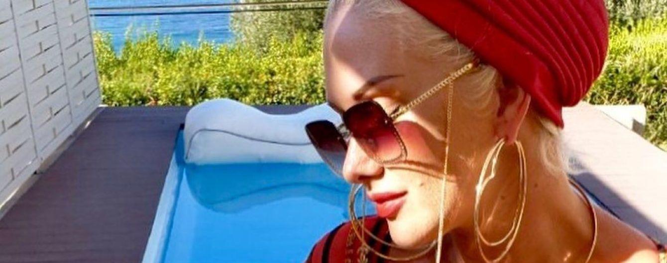 Аппетитная Екатерина Бужинская в купальнике с глубоким декольте показала, как 40-летие праздновала