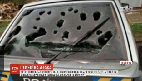 Побиті дахи, автівки та шибки: на Буковині випав град розміром з куряче яйце