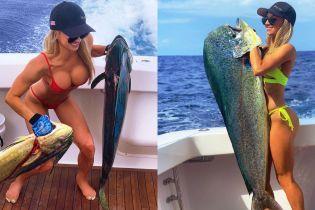 Пышная грудь и огромные рыбины. Чем хвастается горячая рыбачка в Instagram