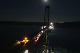 Строительство моста через Хаджибейский лиман показали на видео