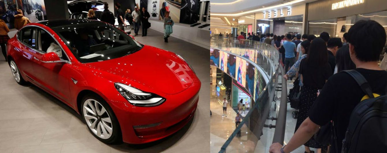 """""""Лихорадка Tesla"""". Электрокары Model 3 вызвали невиданный ажиотаж в Южной Корее"""