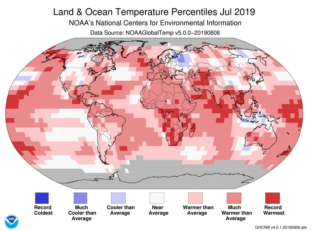 Температурний рекорд, липень 2019