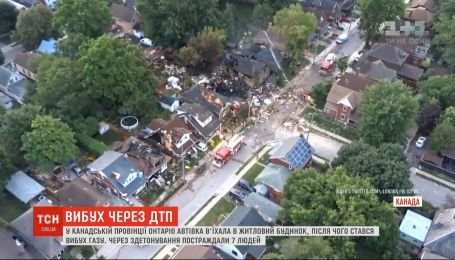 У Канадській провінції Онтаріо автівка влетіла в будинок, після чого стався вибух газу