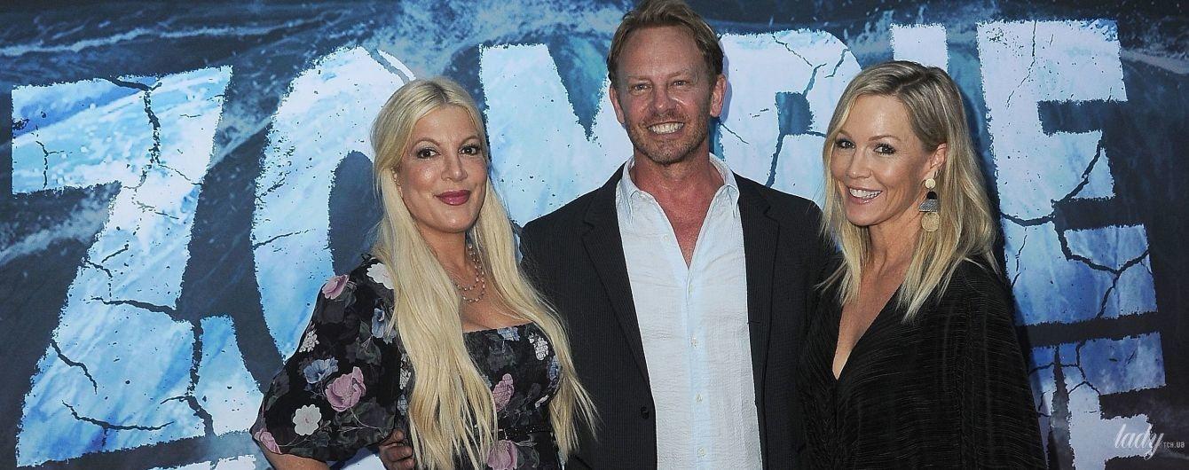 """Спеллінг і Гарт у сукнях та усміхнений Ян Зірінг: зірки """"Беверлі-Гіллз 90210"""" на світському заході"""