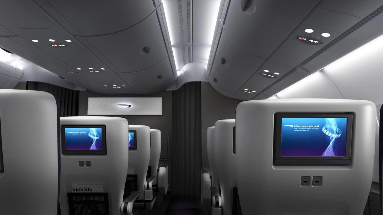 British Airways, салон самолета