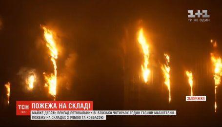 Запахло жареным: в Запорожье горели склады с рыбой и колбасой
