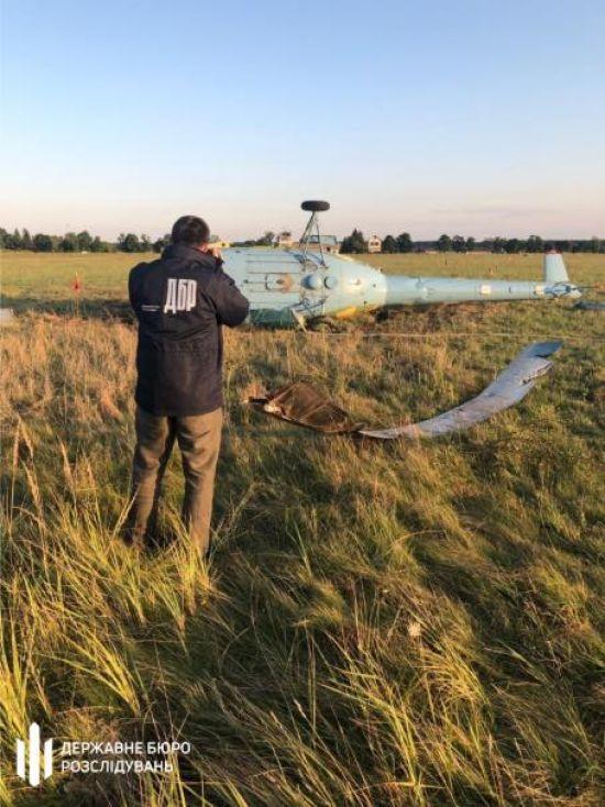 ДБР почало розслідувати, чому на військовому полігоні на Львівщині впав гелікоптер