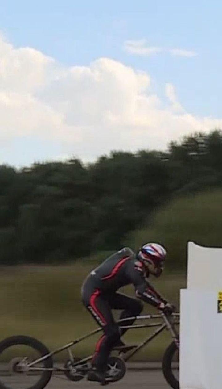 Новый рекорд по скоростной езде на велосипеде установил британский спортсмен