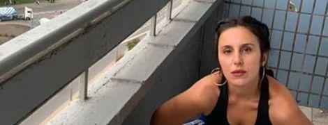 Смілива Джамала показала, як ризикувала життям на балконі