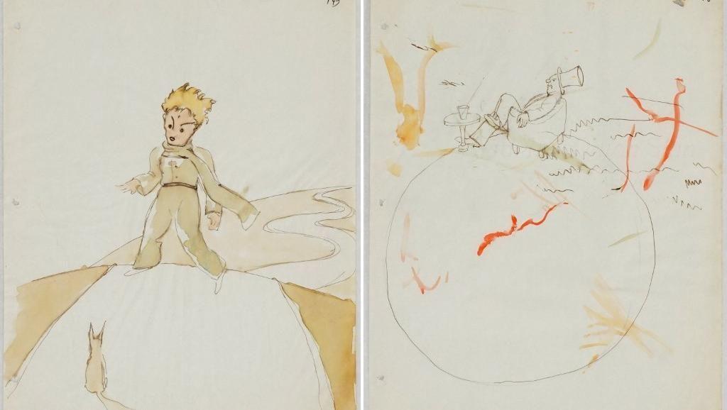 """ранні ескізи Антуана де Сент-Екзюпері до книжки """"Маленький принц"""""""